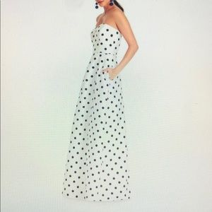 Alfred Sung Polka Dot Evening Gown sz 2L